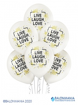 Live Laugh Love baloni 6 kom