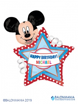 Happy Birthday Mickey balon + ime