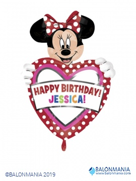 Happy Birthday Minnie balon + ime