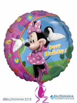 Minnie happy birthday balon